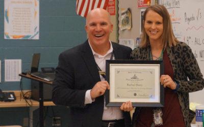 EVV Teacher Recognized as Commissioner's Talent Pool Recipient