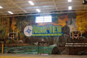 Arbor View Gym Mural