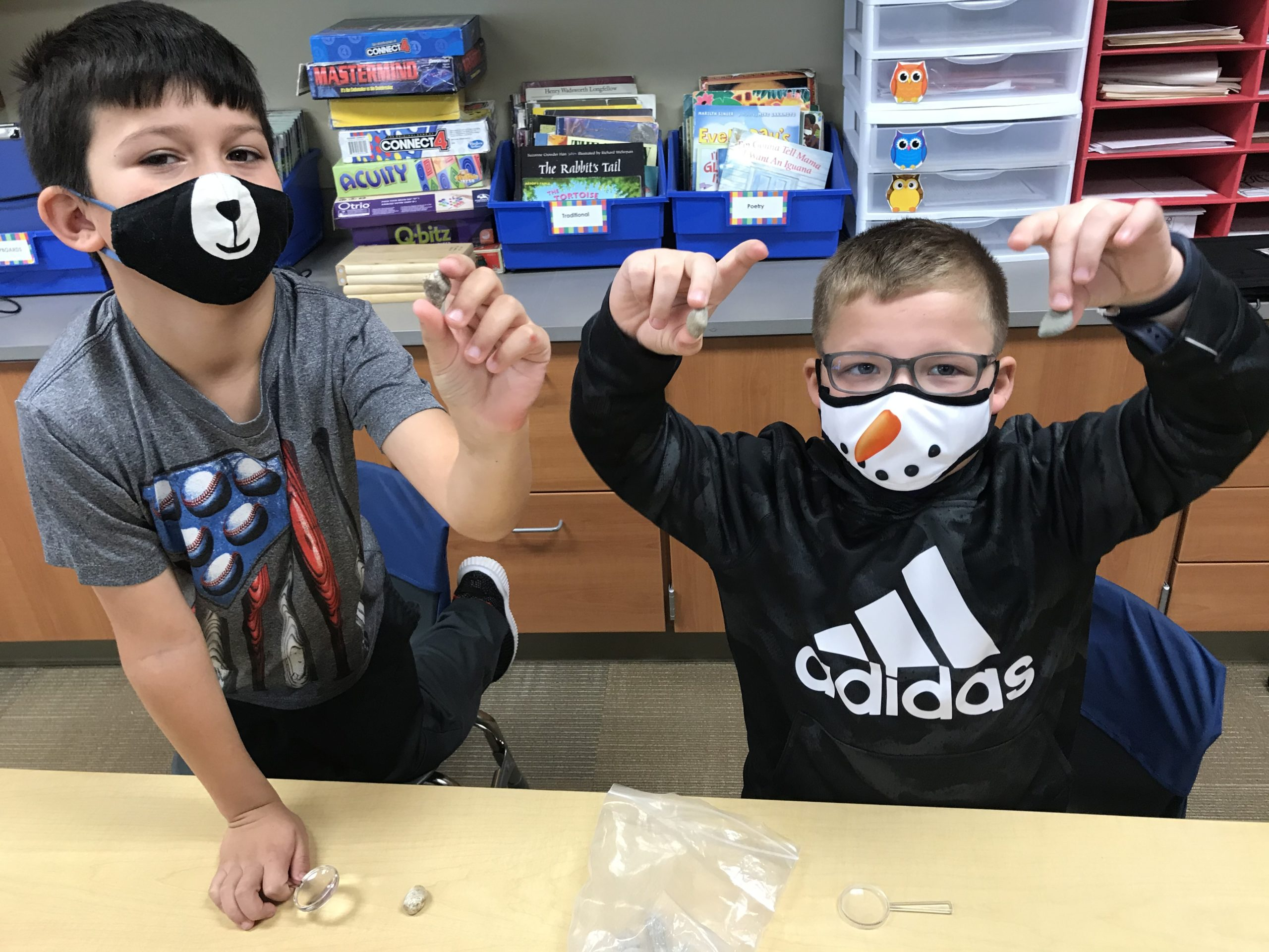 Students show off their rocks
